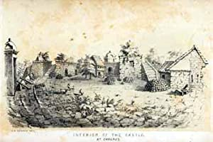 Interior of the castle at Chagres [Panama].: Cameron, John after George Victor Cooper.