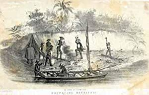 Preparing Breakfast in the Chagres River [Panama].: Cameron, John after George Victor Cooper.