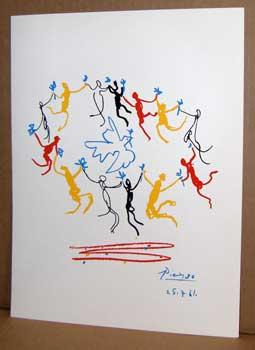 Dance Around the Dove of Peace.: Picasso, Pablo.