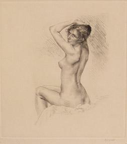 Nude woman. Weiblicher Akt.: Köpping, Karl.