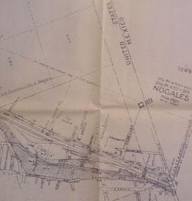 Right of Way and Track Map - Nogales Branch, Santa Cruz County, Arizona. Benson to Nogales. Set of ...
