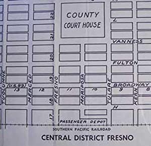Map of the City of Fresno and Vicinity, Fresno County, CA: Southern Pacific Lines (San Francisco, ...