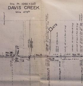 Right of Way and Track Map of Davis Creek, Garret, Alturas, Modoc County, CA.: Southern Pacific ...