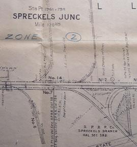 Right of Way and Track Map of Spreckels Junction, Salinas, Monterey County, CA.: Southern Pacific ...