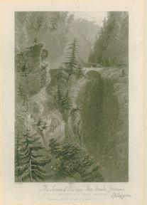 The Second Bridge: Via Mala (Grisons) / Tweede Brud in de Via Mala.: Bartlett, William Henry.