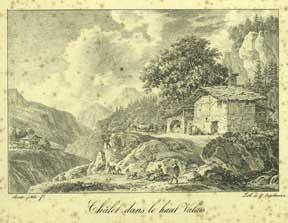 Chalet dans le haut Valais.: Bacler d'Albe, Louis.