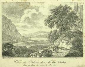 Vue du Rhône dans le bas Valais: Bacler d'Albe, Louis.