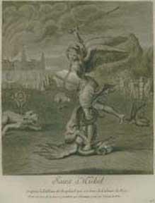Saint Michel.: Flos, Claude du after Raphaël.