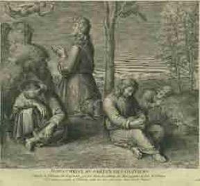Jesus Christ au Jardin des Oliviers.: Flipart, Jean Charles after Raphaël.