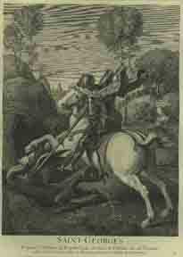 Saint Georges.: Larmessin, Nicolas after Raphaël.