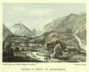 Cascade et Hôtel du Reichenbach.: Baumann, F.