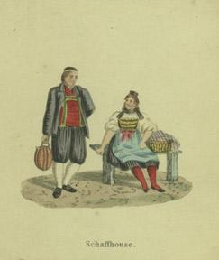 Swiss, German, and Austrian costumes.: Anonymous.