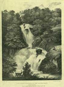 The Lower Cascade of the Reichenbach: Canton of Bern.: Aglio, Agostino.