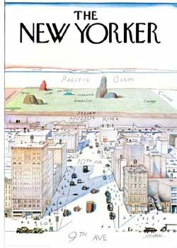 View of the World from 9th Avenue. (The New Yorker).