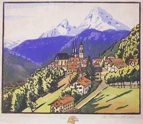 Barvarian Village. Dorf in Bayern.: Schmitz, Richard.