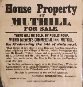 House Property at Muthill for Sale [original auction poster].