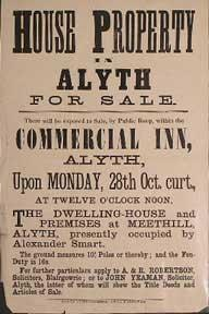 House Property in Alyth for Sale [original auction poster].