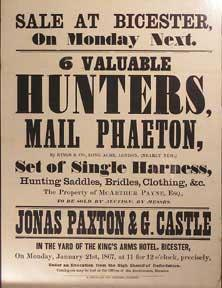6 Valuable Hunters, Mail Phaeton, Set of Single Harness, Hunting Saddles, Bridles, Clothing, &c...