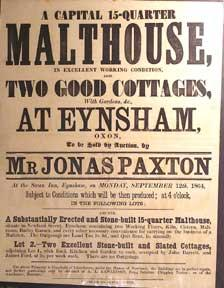 A Capital 15-Quarter Malthouse and Two Good Cottages with Gardens, &c. Eynsham, Oxon [original au...