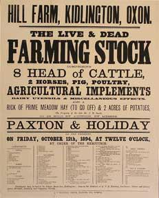 The Live and Dead Farming Stock comprising Cattle, Horses, Pig, Poultry, Agricultural Implements....