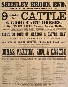 9 Head of Cattle, 6 Good Cart Horses, Pigs, Wagon, Carts, Reaping Machine, capital Double-barrel ...