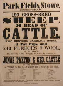 190 Cross-Bred Sheep, 26 Head of Cattle, Two Hunters, Carriage Horse, 4 Fat Pigs, and 240 Fleeces ...
