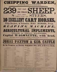 First-Class Long Wooled Sheep, Well-Bred Steers, Excellent Cart Horses, Filly Sucker. Chipping Wa...