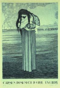 Carmen Domenech d. Gras Ex-Libris.: Julibert, Joaquim.