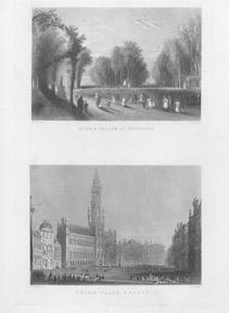 Pair of 19th Century Views of Brussels.: Payne, A.H. after Bartlett.