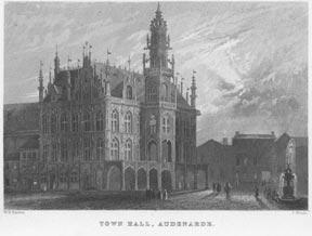 Town Hall, Audenarde.: J. Woods after W. H. Bartlett.