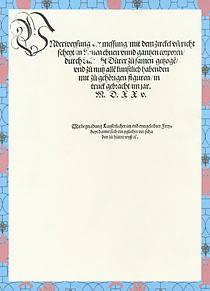 Underweysung der Messung mit dem Zirckel und: Dürer, Albrecht.