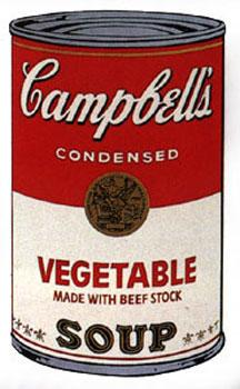 Campbell's Soup I 1968. Vegetable Made with: Warhol, Andy (After).