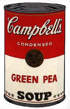 Campbell's Soup I 1968. Green Pea.: Warhol, Andy (After).
