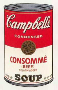 Campbell's Soup I 1968. Consommé (Beef), Gelatin: Warhol, Andy (After).