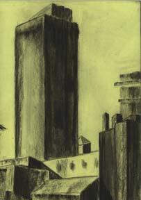 Collection of Large Charcoal Drawings.