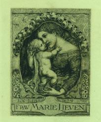 Ex Libris Frau Marie Lieven.: Volkert, Hans.