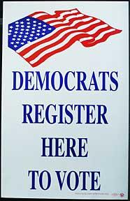 Democrats Register Here to Vote.