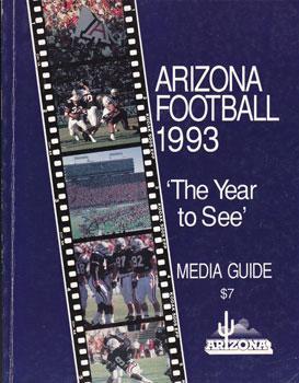 1993 Arizona Football Media Guide.: Duddleston, Tom, Jr. and Butch Henry.