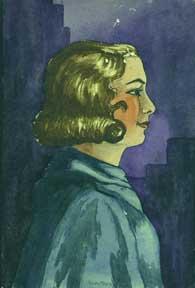 Untitled (Woman in Profile).: Bennett, Allen, a.k.a. Allen Pencovic.