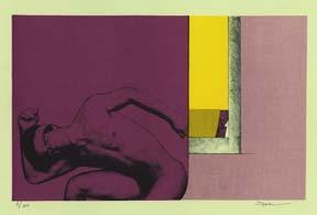 Untitled Silkscreen (Male Nude).: Battione, Beatriz.