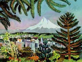 Portland and Mt. Hood.: Sheets, Millard.