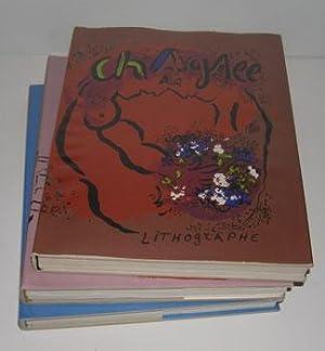 Chagall Lithographe. Vols. I, II & IV.: Mourlot, Fernand, Julien