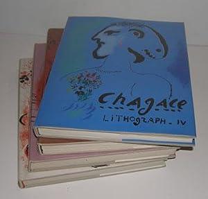 Chagall Lithograph. Vols. I-IV. Auf deutsch.: Mourlot, Fernand, Julien