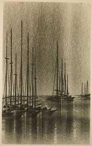 Sailboats in Port.: Florsheim, Richard Aberle.