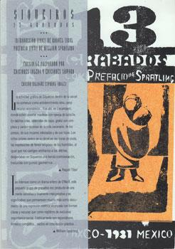 Siqueiros. 13 Grabados. 13 Woodcuts.: Siqueiros, David Alfaro, William Spratling and Raquel Tibol.