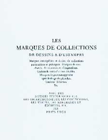 Marques de collections de dessins & d'estampes.: Lugt, Frits.