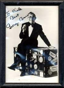 Autographed black and white publicity photograph of Gracie Allen's sidekick George Burns.: ...