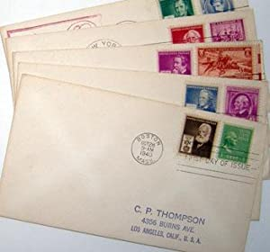Famous American Series. (First Day Covers - The Scientists' Group) Eli Whitney, Samuel F. B. ...