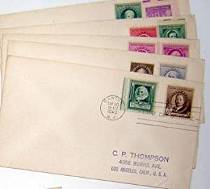 Famous American Series. (First Day Covers - Composers' Group). Stephen Collins, John Philip ...