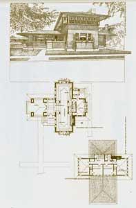 Masonry dwelling for Mr. Martin, Buffalo, New York. Adjoining the Martin residence. 1904. Pl. XXVI....